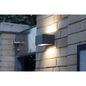 Lutec By Eco Light zewnętrzny kinkiet LED Antracytowy, 1-punktowy