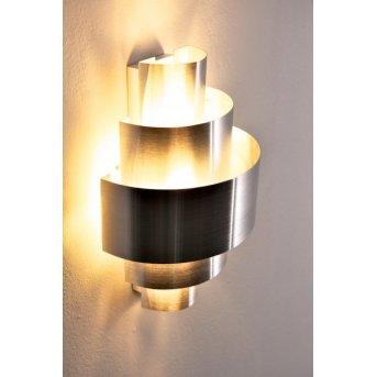 Lucillo lampa ścienna Srebrny