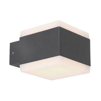 Kinkiet zewnętrzny Globo SLICE LED Antracytowy, 1-punktowy, Zmieniacz kolorów