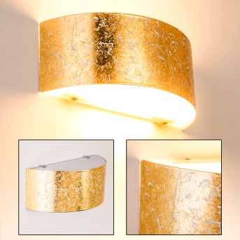 Lesina M Lampa ścienna Złoty, 2-punktowe