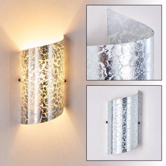 Pordenone Lampa ścienna Srebrny, 1-punktowy