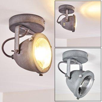 Glostrup Lampa Sufitowa LED Siwy, 1-punktowy