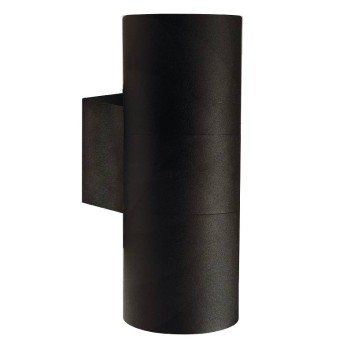 Nordlux TIN Zewnętrzny kinkiet Czarny, 2-punktowe