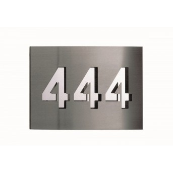 Albert 977 numer domu Stal nierdzewna