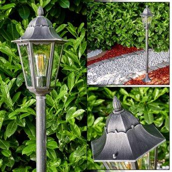 Lignac Zewnętrzna Lampa Stojąca Czarny, Srebrny, 1-punktowy