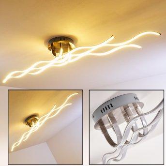 Bovino lampa sufitowa LED Nikiel matowy, 1-punktowy