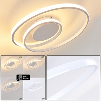 Leksund Lampa Sufitowa LED Biały, 1-punktowy