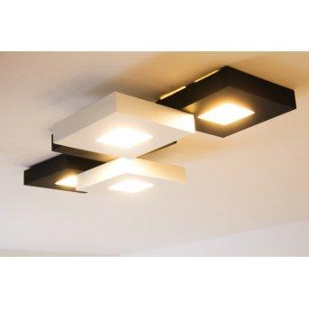 Bopp CUBUS lampa sufitowa LED Czarny, Biały, 5-punktowe