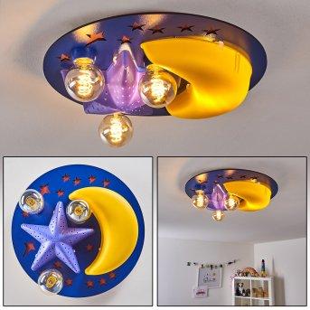 Fribourg Lampa Sufitowa Niebeieski, Żółty, 2-punktowe
