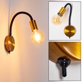 Lampa ścienna Hovslund Czarny, Złoty, 1-punktowy
