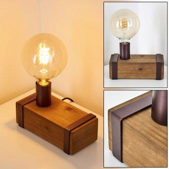 Balakovo lampka nocna Rudy, Ciemne drewno, 1-punktowy