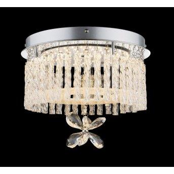 Globo Lampa sufitowa LED Chrom, 1-punktowy