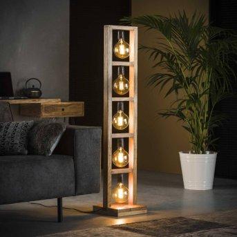 HOOFPLAAT Lampa stołowa Jasne drewno, 5-punktowe