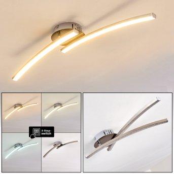 Tusula Lampa Sufitowa LED Nikiel matowy, 2-punktowe
