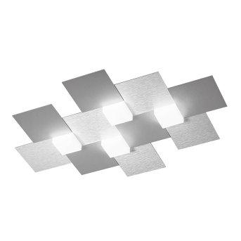 Grossmann CREO Lampa sufitowa LED Aluminium, 4-punktowe