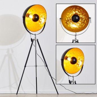 Saturn Lampa stojąca Chrom, Czarny, 1-punktowy