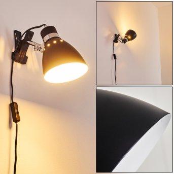 Stranderott lampa z klipsem Chrom, Czarny, 1-punktowy
