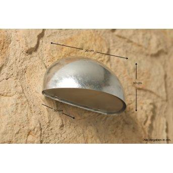 Nordlux Scorpius lampa ścienna Stal nierdzewna, Ocynkowany, 1-punktowy