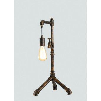 Lutec AMACORD Lampa stołowa Brązowy, 1-punktowy