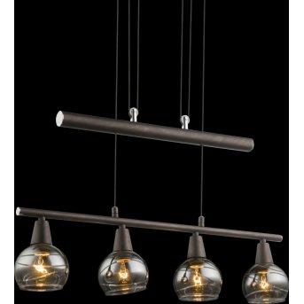 Globo Isla Lampa Wisząca LED Brązowy, 4-punktowe