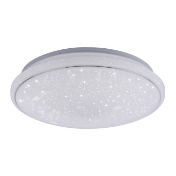 Leuchten Direkt Ls-JUPI Lampa Sufitowa LED Biały, 1-punktowy, Zdalne sterowanie, Zmieniacz kolorów