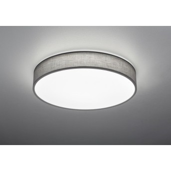 Trio LUGANO Lampa Sufitowa LED Siwy, 1-punktowy, Zdalne sterowanie