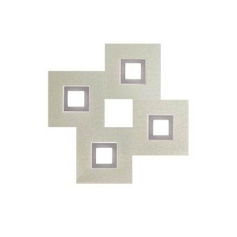 Grossmann KARREE Oświetlenie ścienne i sufitowe LED Aluminium, Tytan, 4-punktowe