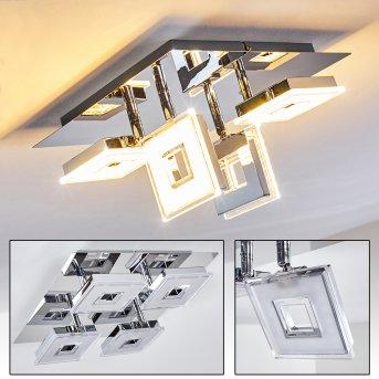 Krakau lampy sufitowe listwy LED Chrom, 4-punktowe