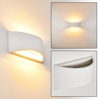 Skorped Lampa ścienna Biały, 1-punktowy