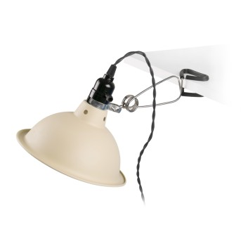 Faro Barcelona Pepper lampa z klipsem Chrom, Czarny, 1-punktowy