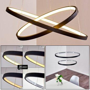 Canisteo Lampa Wisząca LED Czarny, 2-punktowe