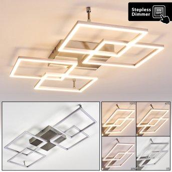 Veyrier Lampa Sufitowa LED Stal szczotkowana, 4-punktowe