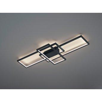 Trio THIAGO Lampa Sufitowa LED Antracytowy, 1-punktowy, Zdalne sterowanie, Zmieniacz kolorów