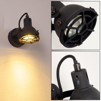 Jonsered Lampa ścienna LED Czarny, 1-punktowy