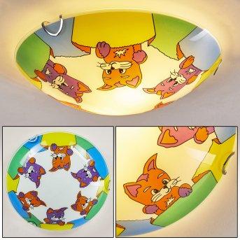Pizzy Katze Lampa Sufitowa Chrom, Biały, 2-punktowe