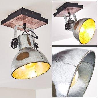 Hora Lampa Sufitowa Srebrny, Ciemne drewno, 1-punktowy
