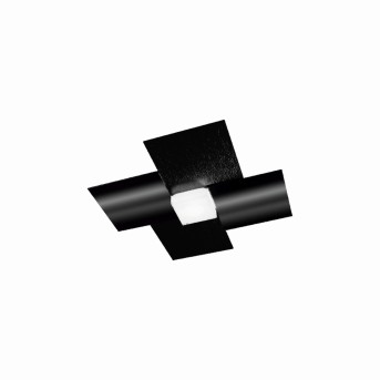 Grossmann CREO Oświetlenie ścienne i sufitowe LED Czarny, 1-punktowy