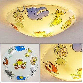 Pizzy Zoo Lampa Sufitowa Chrom, Biały, 2-punktowe