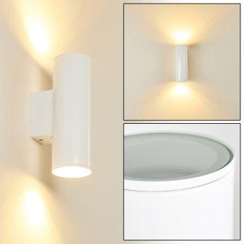 Brachy Zewnętrzny kinkiet LED Biały, 2-punktowe