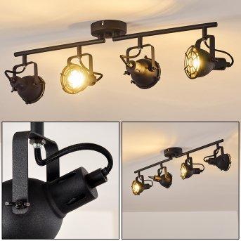 Jonsered Lampa Sufitowa LED Czarny, 4-punktowe
