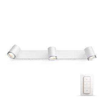 Philips Hue Ambiance White Adore Lampa Sufitowa Biały, 3-punktowe, Zdalne sterowanie