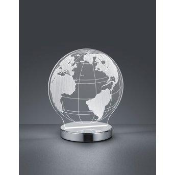 Reality Globe Lampa stołowa LED Chrom, 1-punktowy