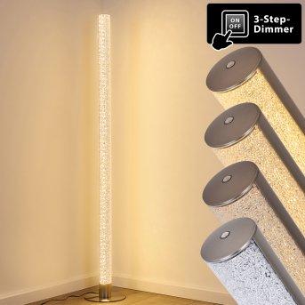 Pipe Lampa Stojąca LED Nikiel matowy, 1-punktowy