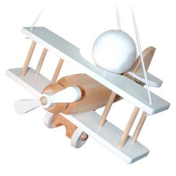 Waldi Flugzeug lampa wisząca Biały, Jasne drewno, 1-punktowy