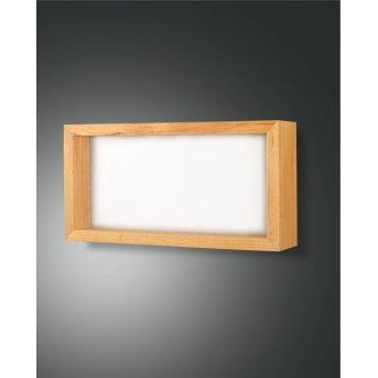 Fabas Luce Window Lampa ścienna LED Brązowy, 1-punktowy
