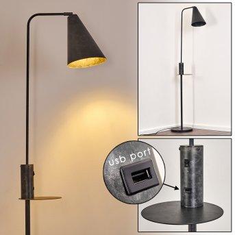 Terwispel Lampa Stojąca Czarny, Siwy, Antracytowy, 1-punktowy