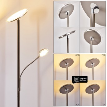 Veteli Lampa Stojąca oświetlająca sufit LED Biały, 2-punktowe