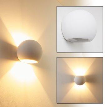 Flot lampa ścienna Biały, 1-punktowy