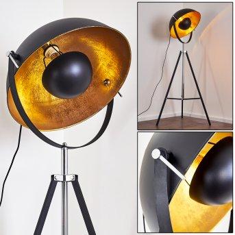 Jupiter Lampa Stojąca Czarno-złoty, 1-punktowy