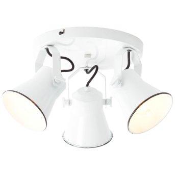 Brilliant Croft Lampa w kształcie rondla z reflektorkami Biały, 3-punktowe